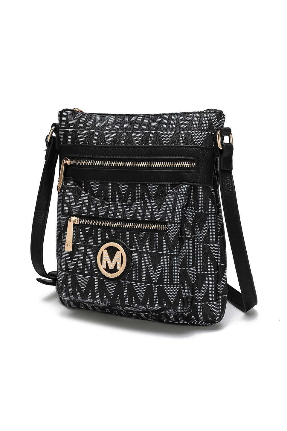 Saniya M Signature Crossbody Bag in Black