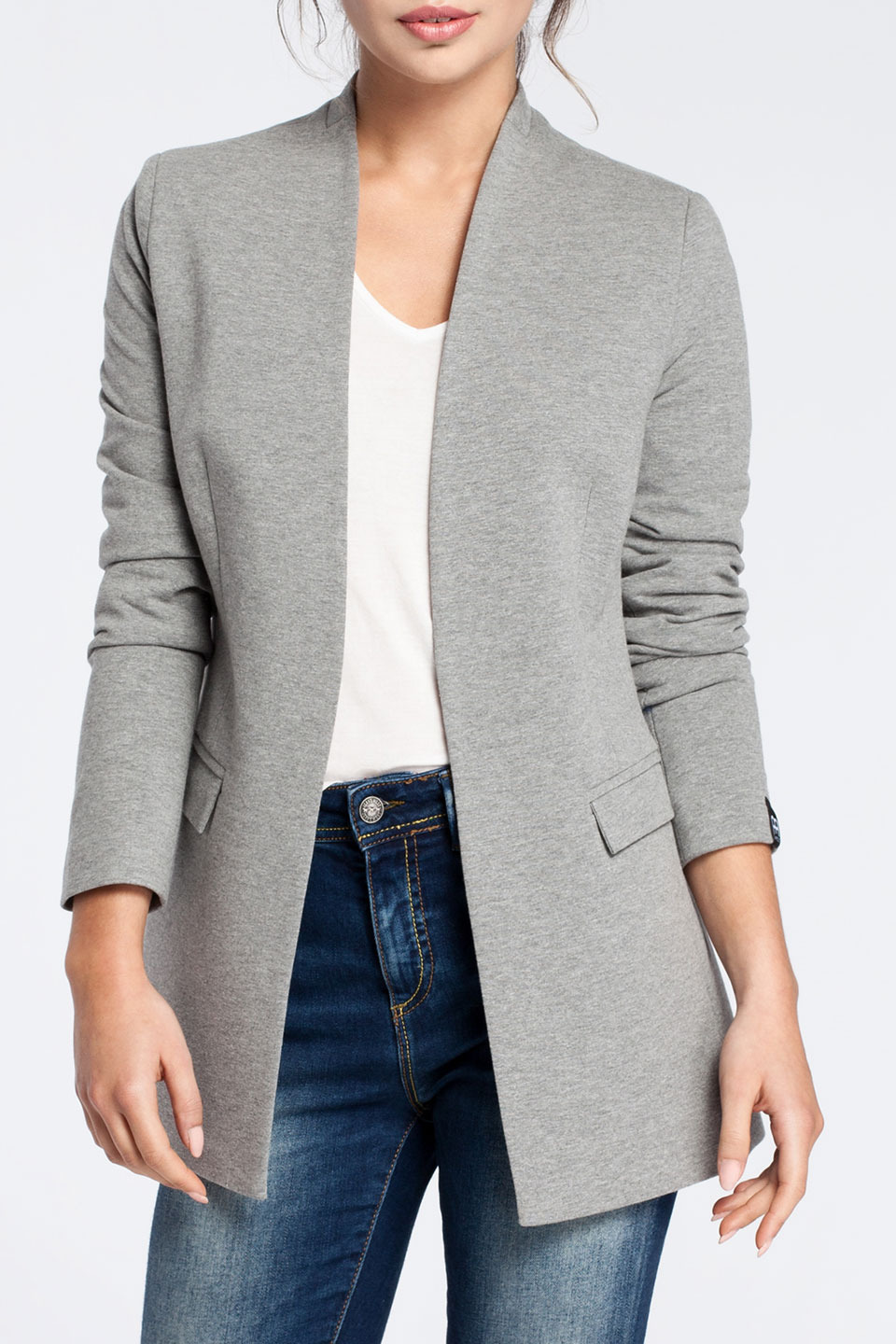 Chardonnay Blazer in Gray