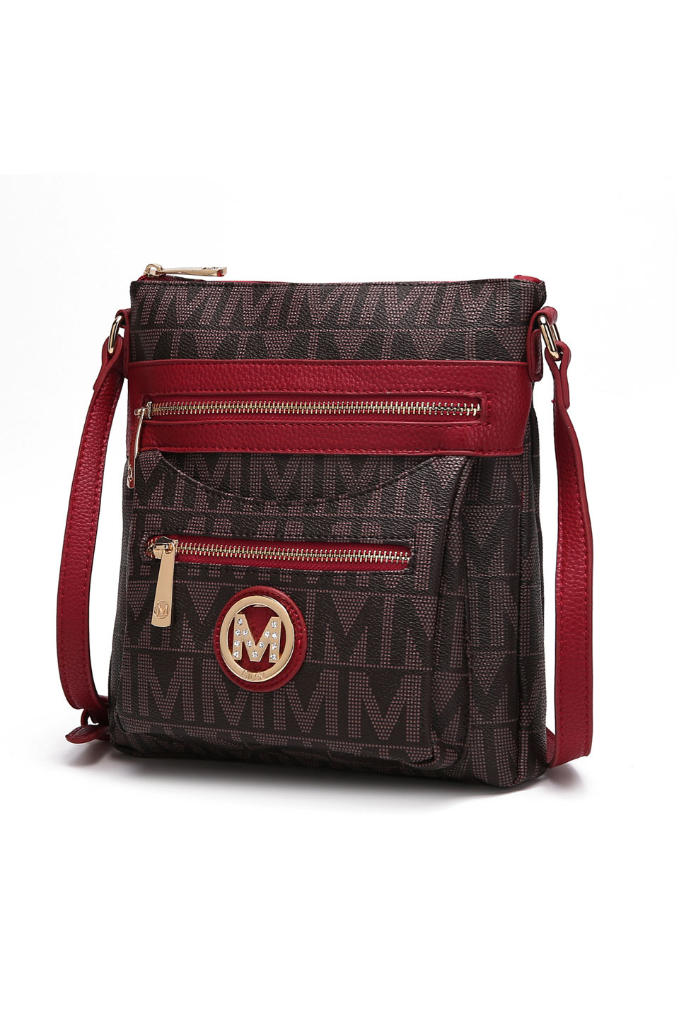 Saniya M Signature Crossbody Bag in Red