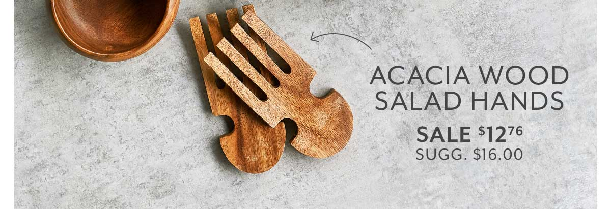 Acacia Wood Salad Hands, Set of 2