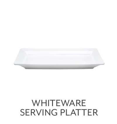 Italian Whiteware Rectangular Serving Platters