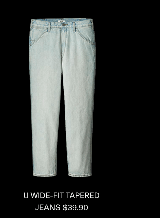 U WIDE-FIT TAPERED JEANS $39.90