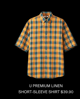 U PREMIUM LINEN SHORT-SLEEVE SHIRT $39.90