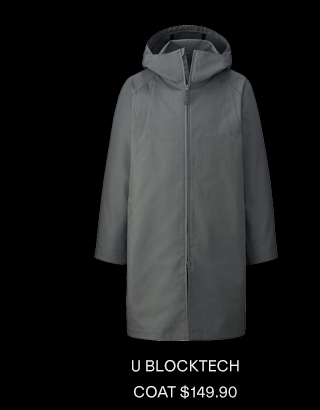 U BLOCKTECH COAT $149.90