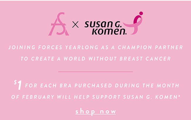 #truedivasfight $1 for each bra purchased during the month of February will help support Susan G.Komen. - Shop Now