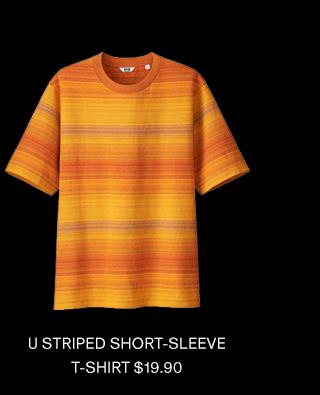 U STRIPED SHORT-SLEEVE T-SHIRT $19.90