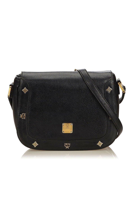 Leather Crossbody Bag in Black