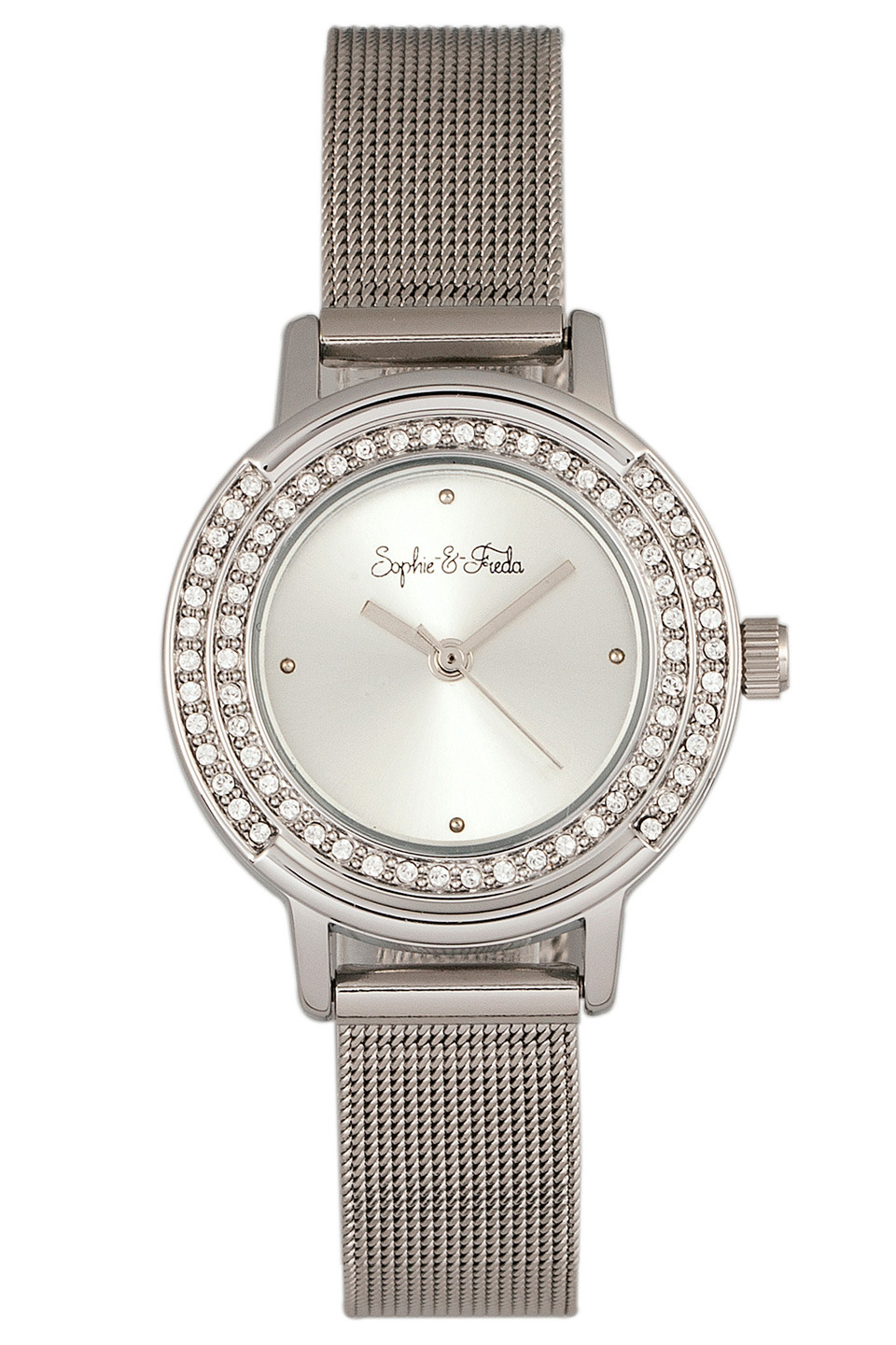Cambridge Watch with Swarovski Crystal in Silver