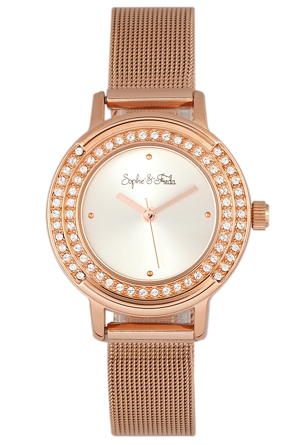 Cambridge Watch with Swarovski Crystal in Silver & Rose Gold
