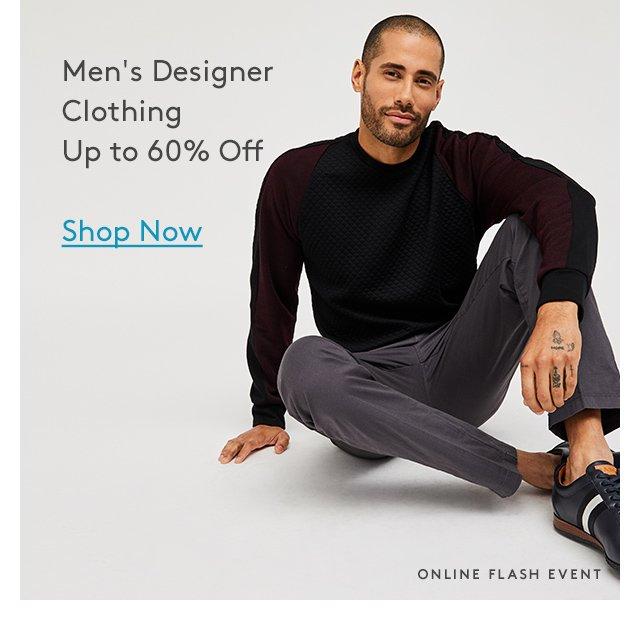 Men's Designer Clothing Up to 60% Off | Shop Now | Online Flash Event