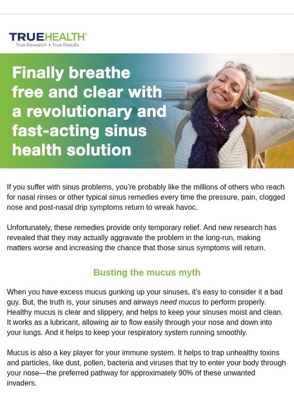 True Health: Bust the Mucus Myth and Get Real Sinus Help | Milled