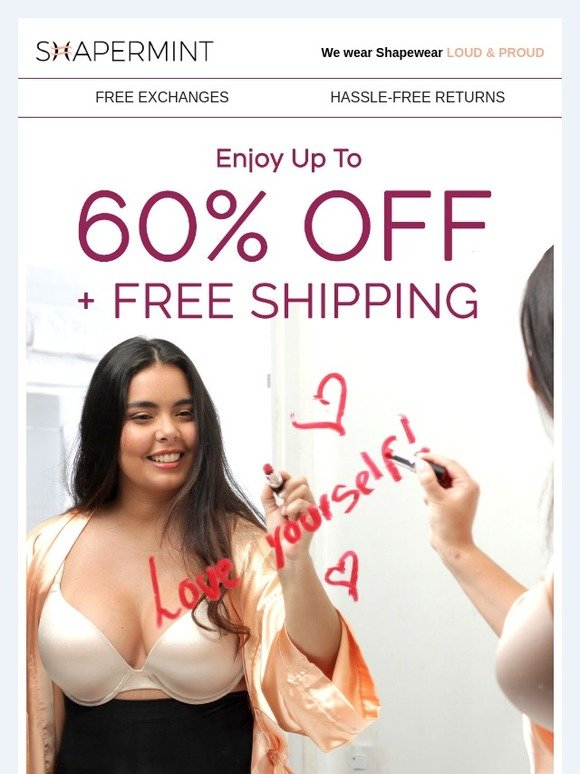e5a7a459f47c2 Shapermint  L♡VE IS... Up To 60% OFF