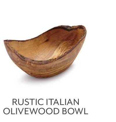 Italian Rustic Olivewood Bowl