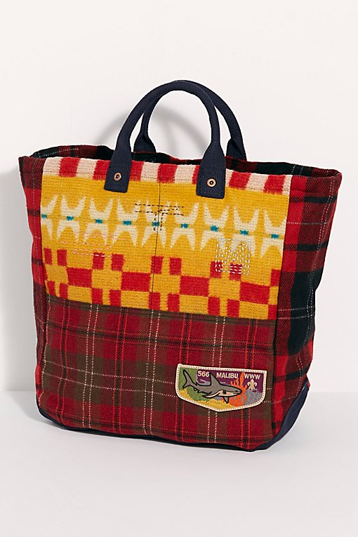Jojo Flannel Tote Bag