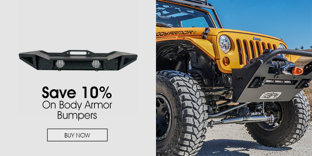 Save 10% on Body Armor Bumpers