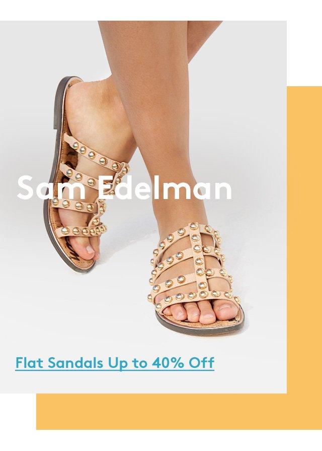 Sam Edelman | Flat Sandals Up to 40% Off