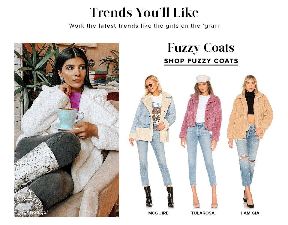 Fuzzy Coats. Shop Now.