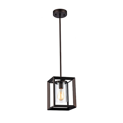 IRONCLAD Industrial-style 1 Light Rubbed Bronze Ceiling Mini Pendant 7