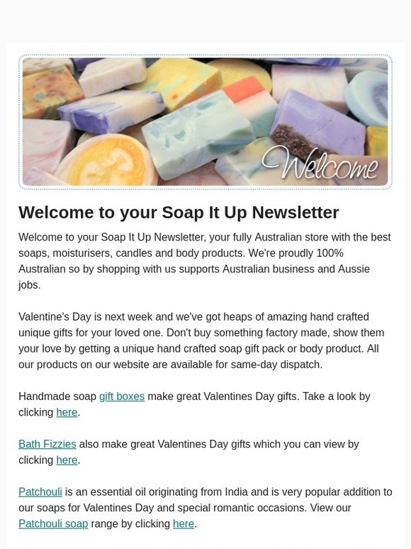 Soap It Up: Valentines Day gift ideas | Milled