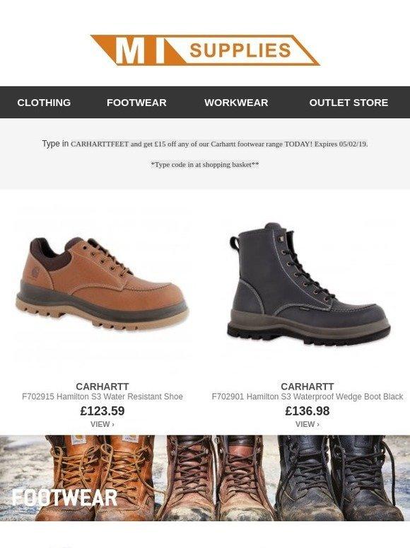 229e200a3dc2 MI Supplies  £15 voucher off all Carhartt Footwear