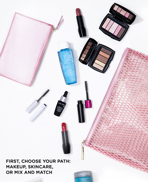 FIRST, CHOOSE YOUR PATH: MAKEUP, SKINCARE, OR MIX AND MATCH