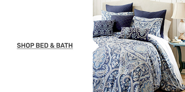Shop bed and bath.