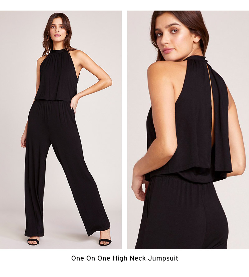 One on One Hight Neck Jumpsuit