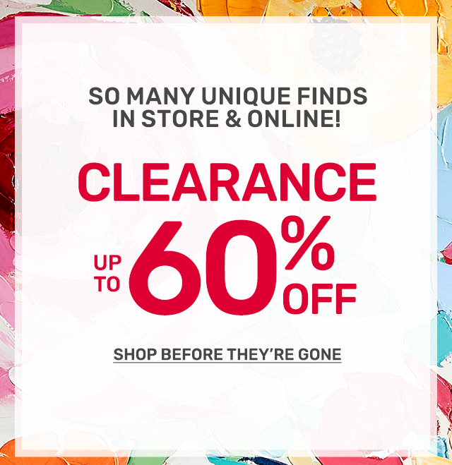 Shop up to sixty percent off clearance.