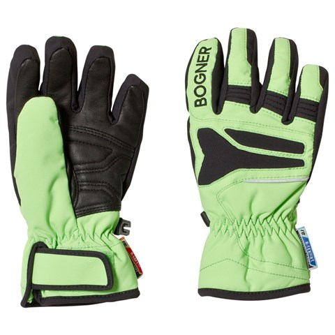 Bogner Green and Black 2 Way Techno Stretch Gloves
