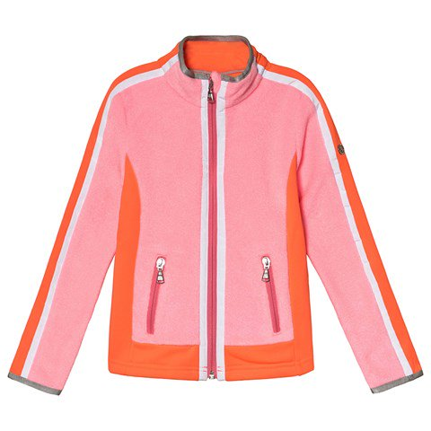 Poivre Blanc Punch Pink Colourblock Full Zip Stretch and Micro Fleece