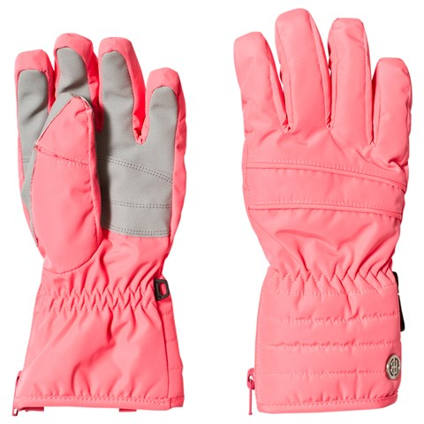 Poivre Blanc Punch Pink Branded Ski Gloves