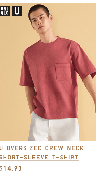U OVERSIZED CREW NECK SHORT-SLEEVE T-SHIRT $14.90