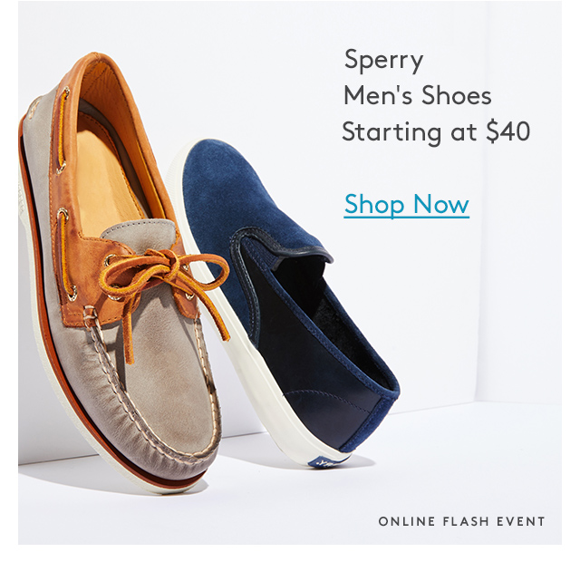 Sperry Men's Shoes Starting at $40 | Shop Now | Online Flash Event