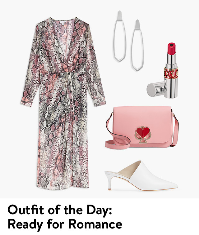 Outfit of the day: ready for romance.