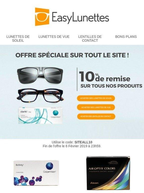 90116de4de Easy Lunettes: 10% de réduction sur toutes les lunettes de vue et de soleil  et sur les lentilles de contact! 🕶   Milled