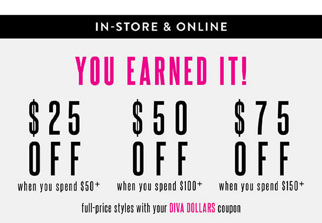 Use your Diva Dollars - Shop Now