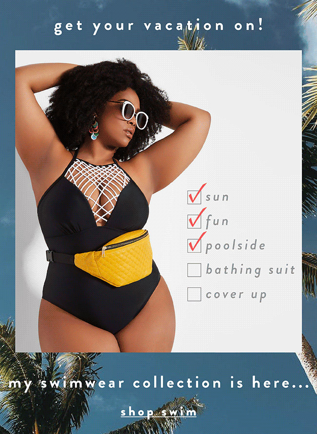 My swimwear collection is here...