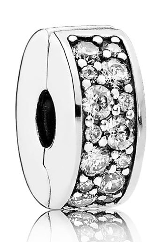 Pandora Clip Spacer in Silver