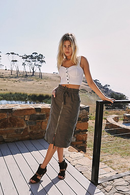 Just The Girl Utility Skirt