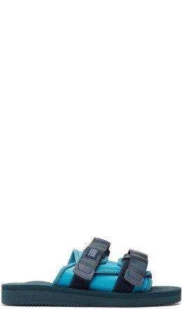 John Elliott - Blue & Navy Suicoke Edition MOTO-JEab-G Sandals