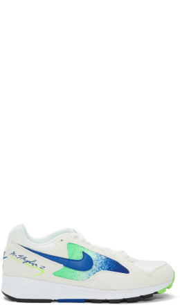 Nike - White & Green Skylon II Sneakers