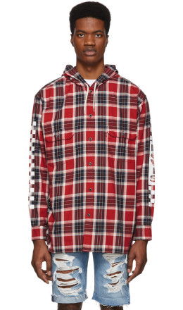 Levi's - Red Check Linka Hooded Shirt