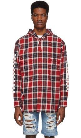 Levi's - Red Check Linka Hooded Shirt