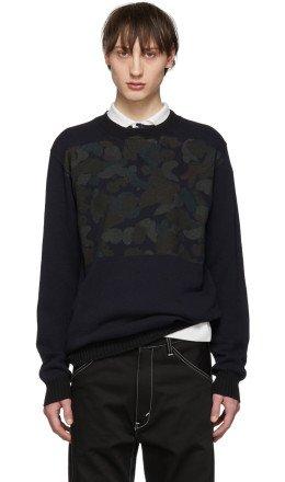 Junya Watanabe - Navy Camo Sweater
