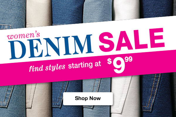 Shop Women's Denim Sale!