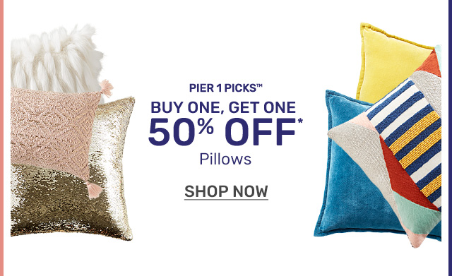 Buy one get one fifty off pillows.