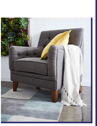 Taupe Tufted Modern Arm Chair