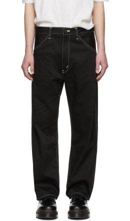Junya Watanabe - Black Cotton Twill Trousers