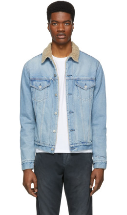 John Elliott - Indigo Denim Kichi Thumper Jacket