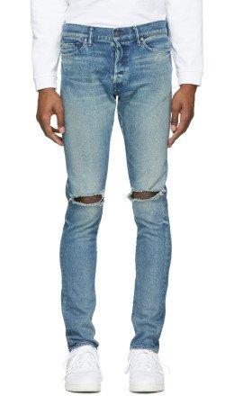 John Elliott - Blue 'The Cast 2' Jeans